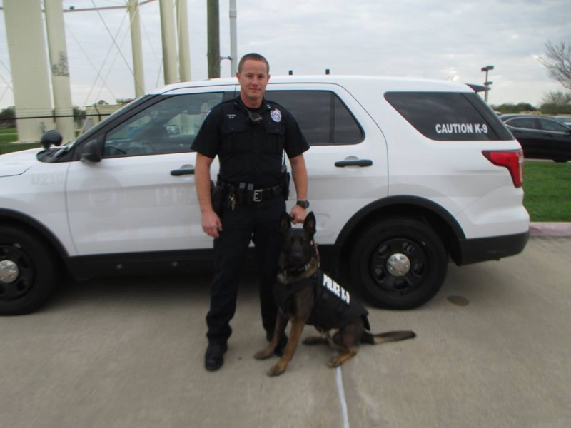 Pearland PD K9s Receive Protective Vests